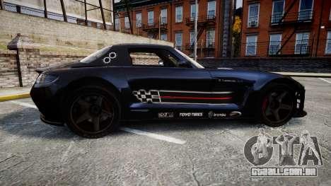 Mercedes-Benz SLS AMG GT-3 high para GTA 4 esquerda vista