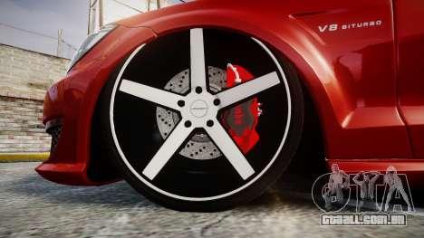 Mercedes-Benz CLS 63 AMG Vossen para GTA 4 vista de volta