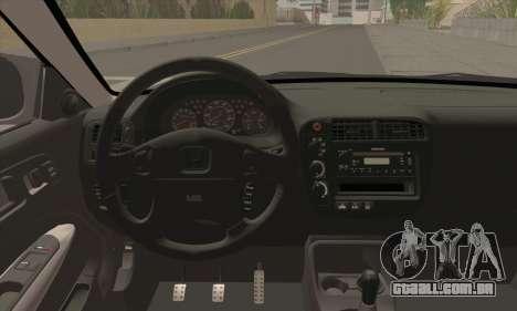 Honda Civic Si Coupe para GTA San Andreas traseira esquerda vista