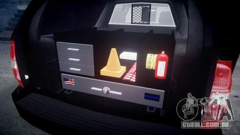 Chevrolet Suburban [ELS] Rims2 para GTA 4 vista interior