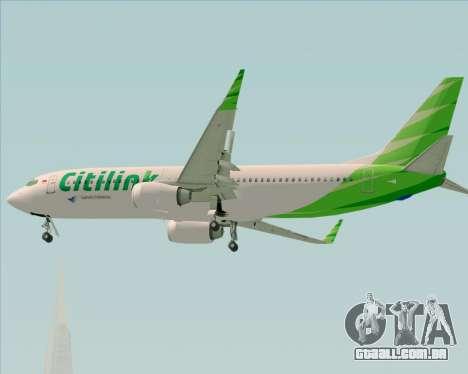 Boeing 737-800 Citilink para GTA San Andreas vista superior