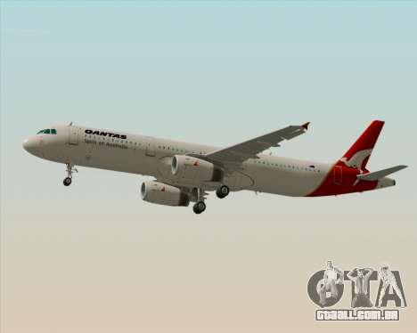 Airbus A321-200 Qantas para GTA San Andreas traseira esquerda vista
