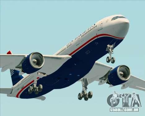 Airbus A330-200 US Airways para GTA San Andreas interior