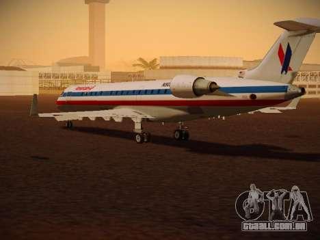 Bombardier CRJ-700 American Eagle para GTA San Andreas vista direita