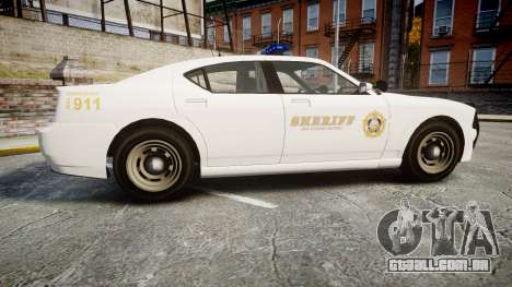 GTA V Bravado Buffalo LS Sheriff White [ELS] para GTA 4 esquerda vista