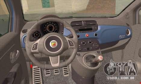 Fiat 500 Abarth 2008 para GTA San Andreas traseira esquerda vista