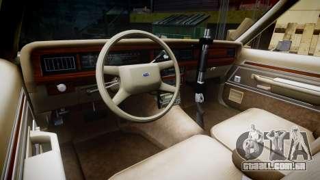 Ford LTD Crown Victoria 1987 LAPD [ELS] para GTA 4 vista de volta