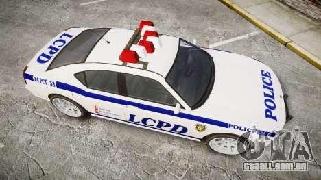 Bravado Buffalo Police para GTA 4 vista direita