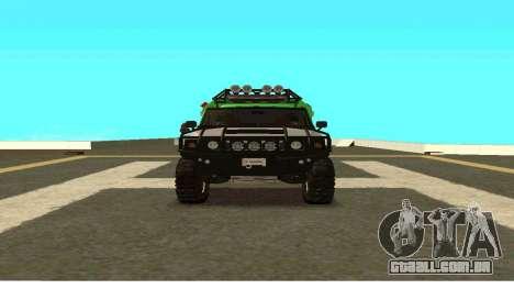 Hummer H2 Ratchet Transformers 4 para GTA San Andreas vista traseira