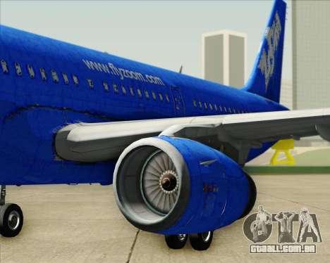 Airbus A321-200 Zoom Airlines para o motor de GTA San Andreas