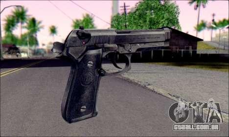 Beretta M92F para GTA San Andreas segunda tela