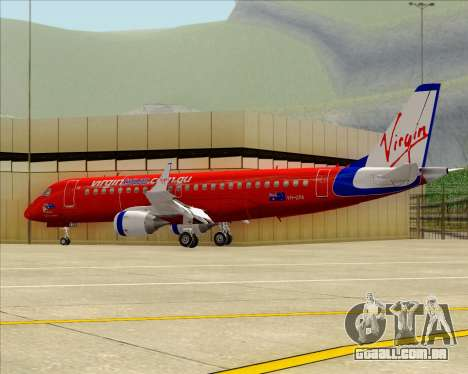 Embraer E-190 Virgin Blue para GTA San Andreas vista interior