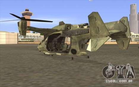 HELO4 Future Hunter para GTA San Andreas esquerda vista