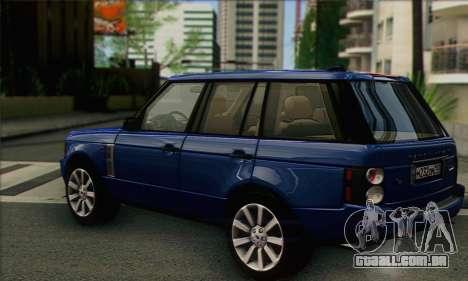 Range Rover Supercharged para GTA San Andreas esquerda vista