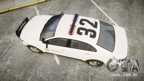GTA V Vapid Interceptor LSS White [ELS] para GTA 4 vista direita