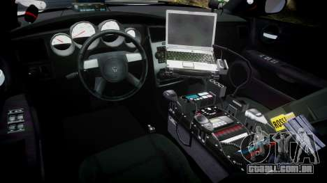 Dodge Charger 2010 PS Police [ELS] para GTA 4 vista de volta