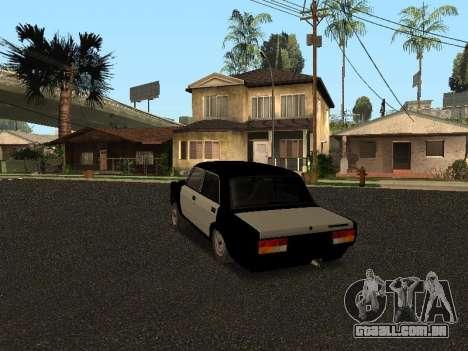 ESTES 2107 Hobo para GTA San Andreas traseira esquerda vista