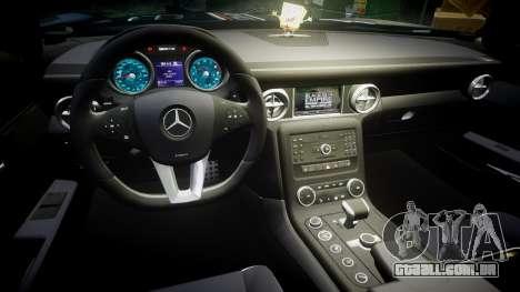 Mercedes-Benz SLS AMG GT-3 high para GTA 4 vista de volta