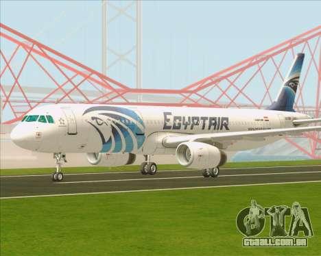 Airbus A321-200 EgyptAir para GTA San Andreas traseira esquerda vista