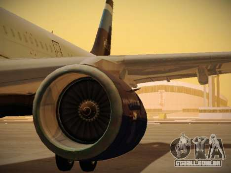 Airbus A321-232 Big Blue Bus para o motor de GTA San Andreas