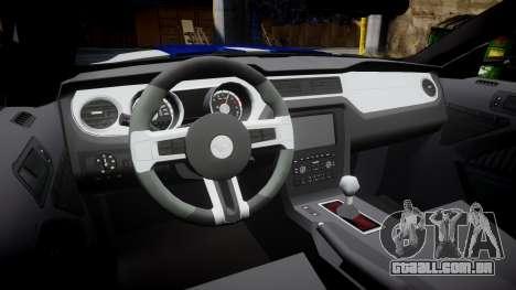Ford Mustang GT 2014 Custom Kit PJ3 para GTA 4 vista interior