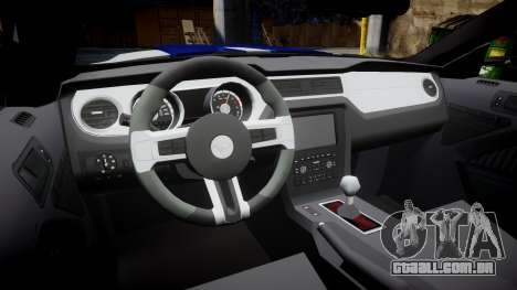 Ford Mustang GT 2014 Custom Kit PJ5 para GTA 4 vista interior