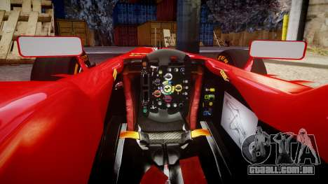 Ferrari F138 v2.0 [RIV] Alonso THD para GTA 4 vista interior