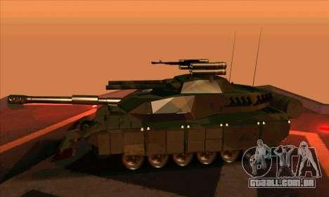 M1A1 Abrams Brawl (Transformers) para GTA San Andreas traseira esquerda vista