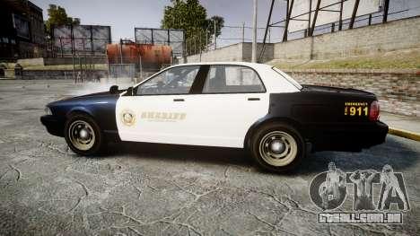 GTA V Vapid Cruiser LSS Black [ELS] Slicktop para GTA 4 esquerda vista