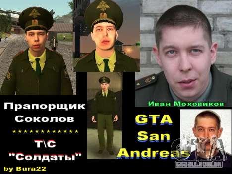 O Tenente Sokolov para GTA San Andreas