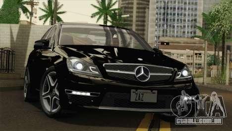 Mercedes-Benz C63 AMG Sedan 2012 para GTA San Andreas vista superior