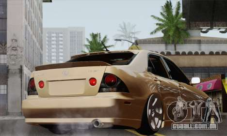 Lexus IS300 Hellaflush para GTA San Andreas esquerda vista