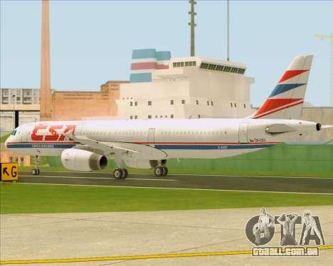 Airbus A321-200 CSA Czech Airlines para GTA San Andreas vista superior