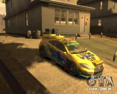 Mitsubishi Eclipse GT Rallycross para GTA 4 traseira esquerda vista