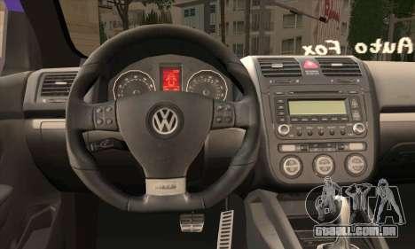 Volkswagen Golf Mk5 GTi Turkish Tuned para GTA San Andreas traseira esquerda vista