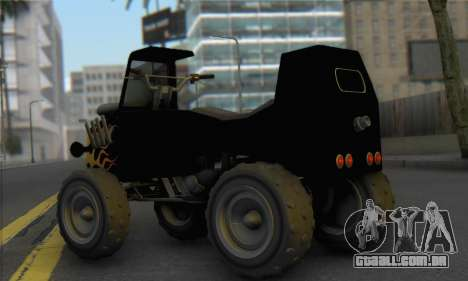 Sweeper from GTA 5 para GTA San Andreas esquerda vista