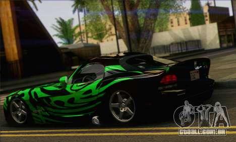 Dodge Viper SRT 10 para GTA San Andreas esquerda vista