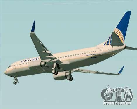 Boeing 737-824 United Airlines para GTA San Andreas vista traseira