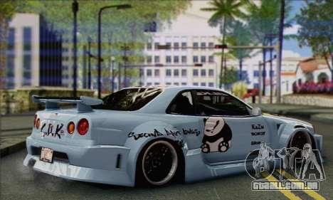 Nissan Skyline R-34 SDK Style para GTA San Andreas esquerda vista