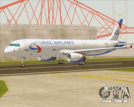 Airbus A321-200 Ural Airlines para GTA San Andreas vista interior