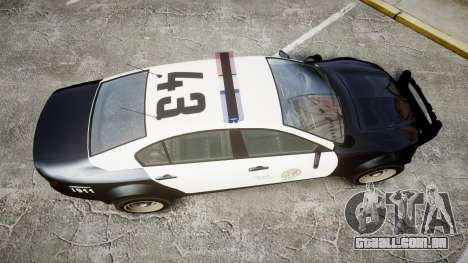 GTA V Cheval Fugitive LS Police [ELS] para GTA 4 vista direita