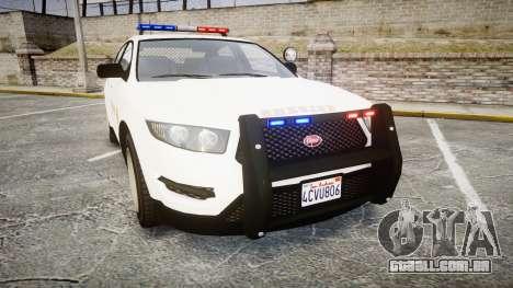 GTA V Vapid Interceptor LSS White [ELS] para GTA 4