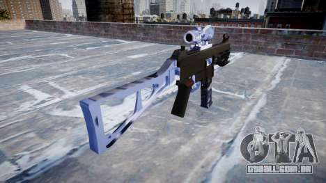 Arma UMP45 Blue Tiger para GTA 4 segundo screenshot