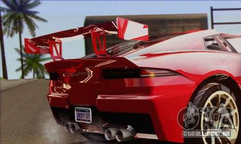 Invetero Coquette (IVF) para GTA San Andreas traseira esquerda vista