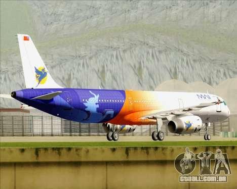 Airbus A321-200 Myanmar Airways International para GTA San Andreas vista superior