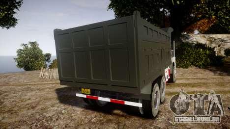 HOWO Truck para GTA 4 traseira esquerda vista