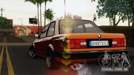 BMW M3 E30 Coupe 1987 para GTA San Andreas esquerda vista