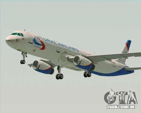 Airbus A321-200 Ural Airlines para GTA San Andreas esquerda vista