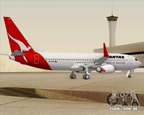 Boeing 737-838 Qantas (Old Colors) para GTA San Andreas vista direita