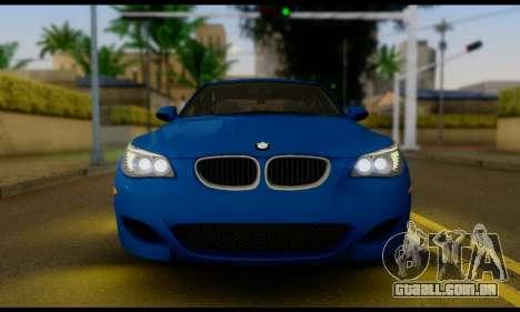 BMW M5 E60 2006 para GTA San Andreas vista direita
